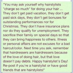 Hairstylist @Chloe Blount this made me think of you too...so accurate