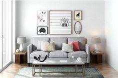 Ideas para decorar con ilustraciones http://www.espacioliving.com/1727729-ideas-para-decorar-con-ilustraciones