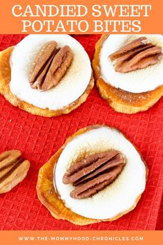 - The Mommyhood Chronicles Sweet Potatoe Bites, Potato Bites, Easy Desserts, Dessert Recipes, Dinner Recipes, Healthy Desserts, Best Pumpkin Pie, Candied Sweet Potatoes, Easy Casserole Recipes