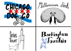 Chicago Dog Neighborhood Print  Choose from 20 by itllglowonyou, $11.99