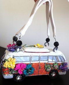 vw bus purse | Mary Frances Get on The Bus VW Vintage Auto Bead Bag Purse Handbag New ...
