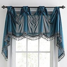 Chris Madden® Mystique Victory Valance - jcpenney maybe for laundry room Home Curtains, Curtains With Blinds, Window Curtains, Valances, Window Coverings, Window Treatments, Curtain Designs, Curtain Ideas, Window Dressings