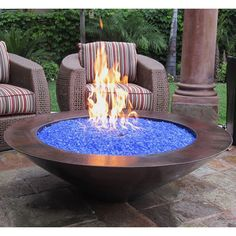 """48"""" Tacora Auto Ignition Fire Pit - Copper   WoodlandDitrect.com: Outdoor Fireplaces, Fire's Edge"""