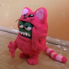 Awesome felted monster by madame colonelle/  monika suska.