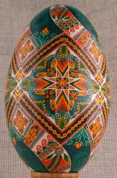Pysanka | Pysanka / Goose egg shell / Easter egg from Carpathians by oberig