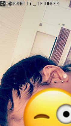 janaee ✨ i add back Cute Ear Piercings, Types Of Piercings, Unique Body Piercings, Vertical Tragus, Girly, Body Modifications, Piercing Tattoo, Future Tattoos, Ear Piercings