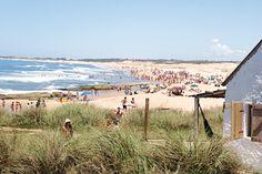 View of Pescadores Beach at Punta Del Diablo in Uruguay. Photo by Mirjam Bleeker