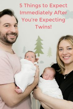 With twins you never really know what to expect. Read what this twin mama says are the 5 things to expect immediately after you're expecting twins! Faternal Twins, Newborn Twins, Breastfeeding Twins, Boy Girl Twins, Triplets, Getting Pregnant With Twins, Expecting Twins, Twin Mom, Twin Babies