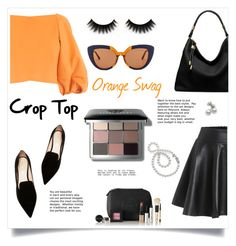 """Orange swagger"" by red-rose26 ❤ liked on Polyvore featuring TIBI, Nicholas Kirkwood, Bobbi Brown Cosmetics, Michael Kors, Marni and Mikimoto"