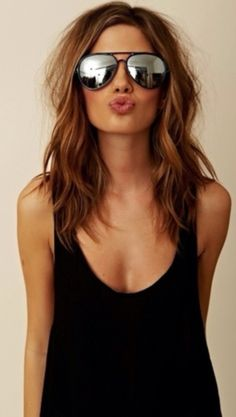 Cheryl Cole: Medium length summer waves.  If I ever got my hair cut short, this is how it would be