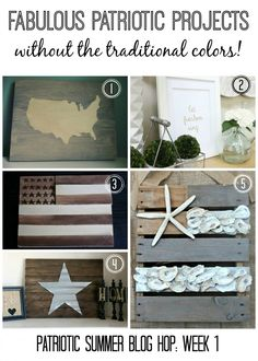 16 Gorgeous Patriotic Projects - without the traditional color schemes! LOVE!