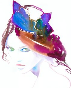 Original Watercolour Fashion Illustration by silverridgestudio. (Halloween parties on my mind) ;)