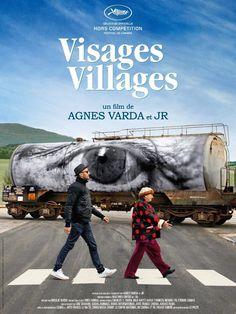 """Agnés Varda, arte urbano, calor humano, creatividad, Fotografía, intervención urbana, JR, """"Visages, villages"""", Rostros y lugares,"""