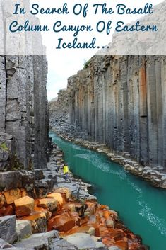 favorite Icelandic hidden gem is Stuðlagil, the Basalt Column Canyon in Jökuldalur valley, Eastern Iceland.Our favorite Icelandic hidden gem is Stuðlagil, the Basalt Column Canyon in Jökuldalur valley, Eastern Iceland. Iceland Travel Tips, Iceland Road Trip, Dream Vacations, Vacation Spots, The Places Youll Go, Places To See, Places To Travel, Travel Destinations, Travel Photographie