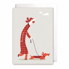 Another Lagom lovely!  One of my 12 designs in the 'Walkies!' collection of greetings cards.