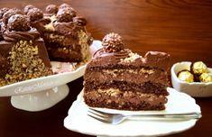 tort-ferrero-rocher-cu-nutella-si-alune-de-padure-10.3 Nutella, Rocher Torte, Ferrero Rocher, Tiramisu, Cakes, Ethnic Recipes, Sweet, Desserts, Food