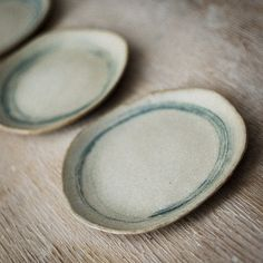 I love the slightly off-kilter design of these Ceramic Salad Plate with Circles in Blue by karanote on Etsy, $22.00