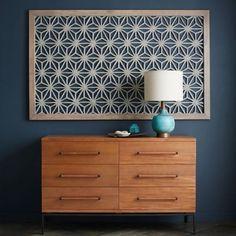 Framed Handmade Paper Wall Art, Gray Star at West Elm - Artwork - Wall Art - Wall Decor - Home Decor Wood Dresser, 6 Drawer Dresser, Dresser As Nightstand, Drawers, Paper Wall Art, Wood Wall Art, Framed Wall Art, Big Wall Art, Artwork Wall