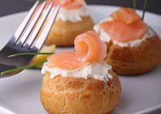 Petits choux farcis au saumon au Cooking Chef