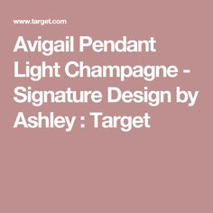 Avigail Pendant Light Champagne - Signature Design by Ashley : Target