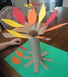 Autumn Tree Craft Pine Cone Crafts, Tree Crafts, Autumn Trees, Pine Cones, Crafts For Kids, Kids Arts And Crafts, Pine Cone, Easy Kids Crafts, Kid Crafts