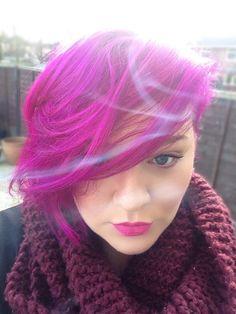 Ribena Hair / I mixed equal parts of directions cerise & directions violet (semi-permanent) #ribena #directions #cerise #violet #directionscerise #directionsviolet #hair #pinkhair #purplehair