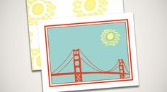 Golden Gate Bridge  Custom made stationary by The Card Bar http://184.171.241.196/~thecb/index2.php?v=v1#!/Home