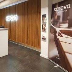 Showroom design for Karava Finland. Showroom Design, Wood Design, Wood Paneling, Finland, Divider, Doors, Outdoor Decor, Furniture, Home Decor