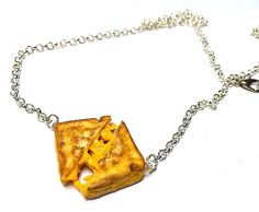 Grilled Cheese Necklace Miniature Food by SucreSucreMiniatures