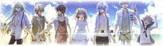 Amnesia - Ukyo, Toma, Shin, Ikki, Kent, Orion and heroine