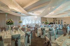 Starlight Grand Ballroom #weddings #adelaide Grand Staircase, Modern Chandelier, Wedding Receptions, Water Features, Perfect Wedding, Destination Wedding, Table Decorations, Furniture, Weddings