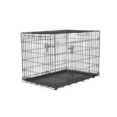 Pet American Kennel Club 42 in. x 30 in. x 28 in. Large Wire Dog Crate *** You can find more details by visiting the image link. (This is an affiliate link and I receive a commission for the sales) Wire Crate, Wire Dog Crates, Bunny Cages, Dog Cages, Large Dog Crate, Large Dogs, Milk Crate Shelves, Crate And Barrel Registry, Airline Pet Carrier