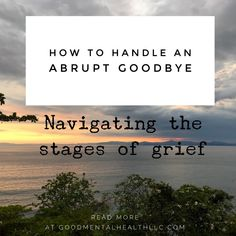 How to handle an abrupt goodbye: Navigating the stages of grief - Good Mental Health LLC Good Mental Health, Mental Health Awareness, Mental Health Counseling, Stages Of Grief, Trauma, Letting Go, Coaching, Healing, Handle