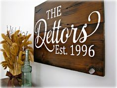 Reclaimed Barn Wood Sign FAMILY Name Sign  by cellardesigns, $169.00