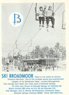 Ski Broadmoor 1960s vintage poster ski