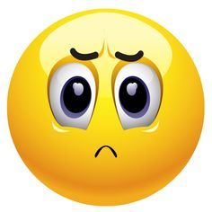 Frowny face emoticon is not happy, but maybe you aren't either!
