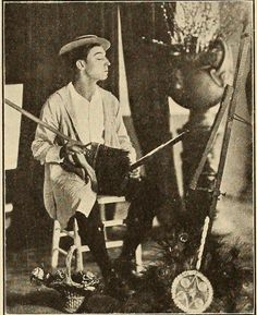 """The Exhibitors Trade Review Sept 1925 page 19 The caption says """"Buster Keaton herewith gives a demonstration of what constitutes the subtle and delicate touch in things artistic."""""""