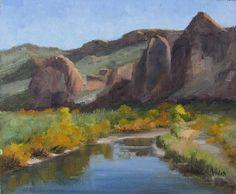 "Salt River Overlook by Linda Apriletti Oil ~ 10"" x 12"" #oilpainting #landscape"