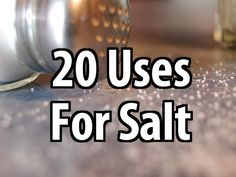 Salt lasts forever and it's not expensive. If you haven't yet, start grabbing some extra salt when you go grocery shopping. It has many great uses.