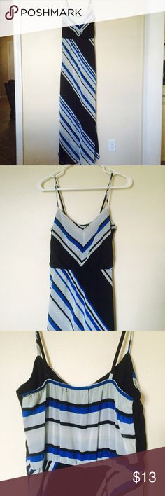 Chevron Maxi Dress In very good condition, it's a little on the longer side. Measurement from chest to bottom of dress is 51 1/2. From top of straps to bottom it's 59in Dresses Maxi