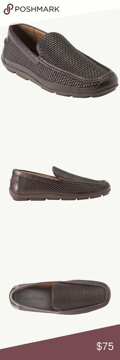 Men's Tommy Bahama Naples Woven Loafer Dark brown leather (upper & lining) loafers. In amazing condition. Great men's shoe for the season. Size 10D. Tommy Bahama Shoes Loafers & Slip-Ons