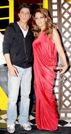 Shah Rukh Khan and Gauri Khan at Gauri's bash. #Bollywood #Fashion #Style…