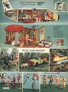 Big Jim page from the 1974 JC Penney's Christmas catalog. I got that Sky Commander plane that year!