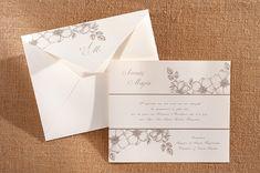 Προτασεις για chic vintage προσκλητηρια γαμου   Biniatian  See more on Love4Weddings  http://www.love4weddings.gr/chic-vintage-wedding-invitations/