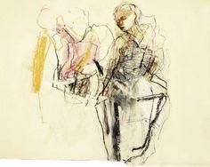 """Saatchi Art Artist Ute Rathmann; Drawing, """"Hommage à Degas XXIX"""" #art"""