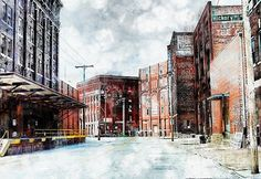 Title:  Hickory - Urban Building Row  Artist:  Liane Wright