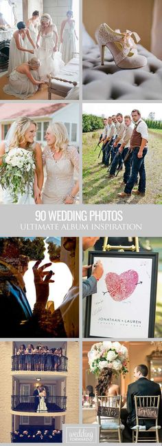 Must Have Wedding Photos In Your Album ❤ Take a look of wedding photos we collected for you from all over the Pinterest to help organize the best ideas. See more: http://www.weddingforward.com/wedding-photos-album/ #weddings #photochecklist