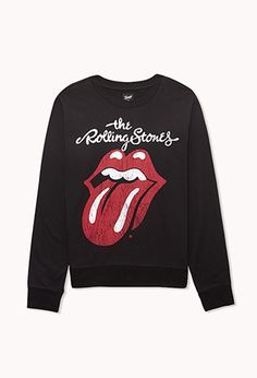 The Rolling Stones Sweatshirt | FOREVER 21. Removed it from the hanger and went straight to the cashier without second thought. ><♥