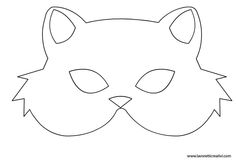 Maschera gatto - Maschera gatto Best Picture For salute gesture For Your Taste You are looking for something, and - Bunny Mask, Cat Mask, Crazy Cat Lady, Crazy Cats, Printable Halloween Masks, Paper Mask, Animal Crafts For Kids, Cat Birthday, Cat Party