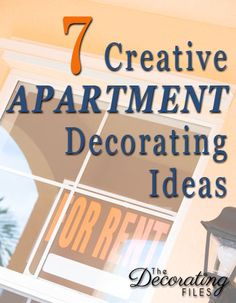 These 7 apartment decorating ideas will help you create a home you love. Even if it's a small apartment with limited options, you can have a fabulous place.